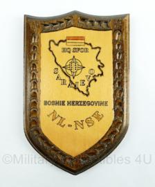 HQ sfor Bosnie Herzegovine wandbord - afmeting 19,5 x 12,5 x 2,5 cm - origineel