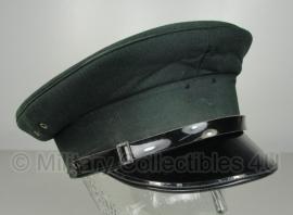 Politie platte pet - zonder insigne  - Donkergroen - 55 of 56 cm.  - origineel