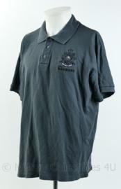 Korps Mariniers polo - met geborduurd logo - donkergrijs - maat Extra Large - origineel
