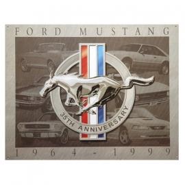 Metalen plaat Ford Mustang 1964-1999 - 32 x 41 cm. (nr. 21)
