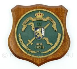KL 12 briggnkcie wandbord - brigade geneeskundige dienst -  afmeting 15 x 15 x 1 cm - origineel