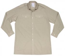 Brits Leger Overhemd khaki lange mouw- nieuw in de verpakking - maat S - voordelig - origineel