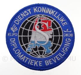 """Nederlandse Politie DKDB """"Dienst Koninklijke Diplomatieke Beveiliging"""" embleem -  met klittenband - diameter 9 cm"""