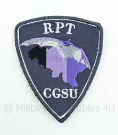 Belgische Politie RPT CGSU Commissariaat Generaal Special Units embleem - met klittenband - 9 x 7 cm