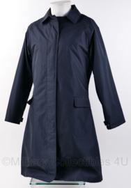 Donkerblauwe regenmantel met voering - dames - nieuw - maat 38