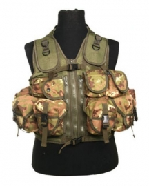 Tactical vest met 9 tassen - Vegetato WL
