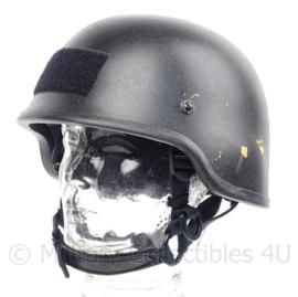 Politie en special forces MICH helm zwart NIJ L3a IIIa - MLA model SDH-2 - Maat Medium - origineel