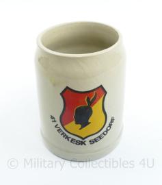 Defensie 41e verkenners Eskadron Seedorf bier mok 0,5 L - 13,5 x 8 x 9,5 cm - origineel