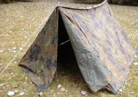 Bundeswehr flecktarn  2-persoons tent - complete set  - origineel