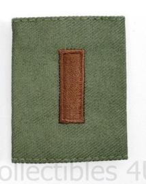 US Army of USAF Goretex jas borst epaulet 2ND Lieutenant subdued - PER STUK  - 5,5 x 4,5 cm - origineel