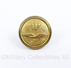 KL Luchtmacht kleine DT knoop 16.5  MM goudkleurig - origineel