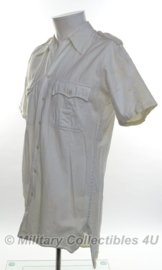 Antiek wit uniform overhemd - korte mouw - maat Medium - origineel