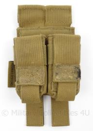 KL Landmacht coyote Warrior assault Systems dubbele magazijntas - afmeting 17 x 8 x 3,5 cm - origineel