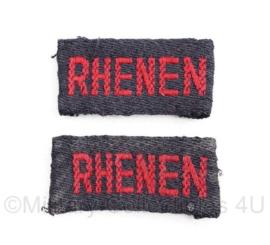 MVO straatnaam PAAR Rhenen -  4 x 2 cm - origineel