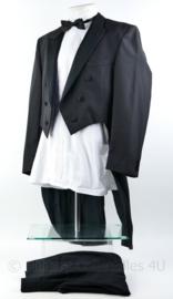 Heren kostuum set Jacquet  jas, overhemd  en broek  - maat 50 -  origineel