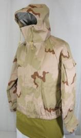 KL Nederlandse leger NBC M2000 parka en broek - Desert camo - maat Medium - ONGEDRAGEN - origineel