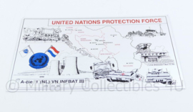 Metalen plaat United Nations Protection Force - 28,5 x 17,5 cm  - origineel