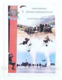 Korps Mariniers handboek elementaire vakopleiding EVO - 13 pagina's - origineel