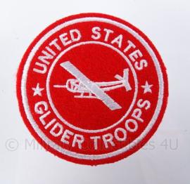 """US """"Glider Troops"""" embleem Rood - groot formaat - diameter 9 cm - replica WO2"""