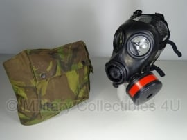 KL AMF12 gasmasker met woodland tas en toebehoren - maat 2 - gebruikt - origineel