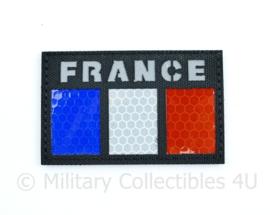 Franse leger infrarood patch - Black - met klittenband - FRANCE   - 5 x 8 cm