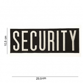 Uniform rug embleem - Security - Extra Large - 29,5 x 10,5 cm
