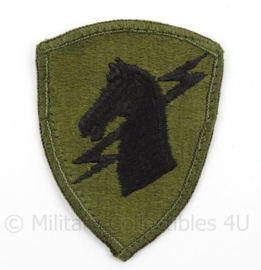 US Army Vietnam Oorlog 1st Special Operations Command patch subdued - afmeting 6 x 8 cm - Origineel