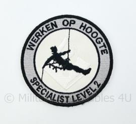 Nederlandse Politie Werken op Hoogte Specialist Level 2 embleem - met klittenband - diameter 9 cm