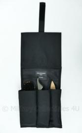 KL Nederlandse Leger foudraal schoenpoetsset in zwarte tas - 20 x 17 x 4 cm - origineel