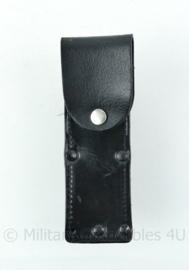 Politie pepperspray lederen houder voor aan de koppelriem- 14,5x6,5x5,5 cm - origineel