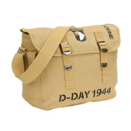 US Army 101st Airborne D-Day 1944 Ransel pukkel met opdruk - COYOTE - 32 x 12 x 24 cm