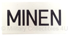 Leger MINEN mijnen bord - metaal - 40 x 20 cm - origineel