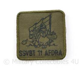 KL Nederlandse leger SSVBT 11 AfdRA Staf en Stafverzorgingsbatterij 11 Afdeling Rijdende Artillerie borstembleem - met klittenband - 5 x 5 cm - origineel