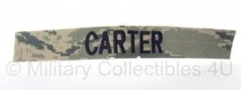 US ABU camo naamlint 'Carter' - origineel