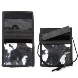 ID-kaart houder zwart - 100% nylon - 11 x 15 cm