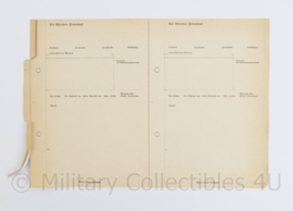 Wo2 Duits document - ongebruikt - 29,5 x 21 cm - origineel