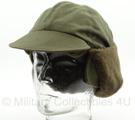 KL Nederlandse leger veldpet bont groene winter muts multifunctioneel - maat 57 t/m 59 cm - origineel