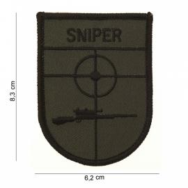 Sniper uniform arm embleem stof - zonder klitteband - 8,3 x 6,2 cm.