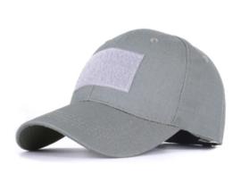 Tactical Baseball Wolf Grey - klittenband voor- en achterop