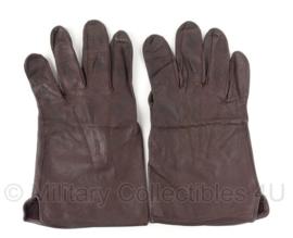 KL Nederlandse leger handschoenen bruin leer - meerdere maten - origineel