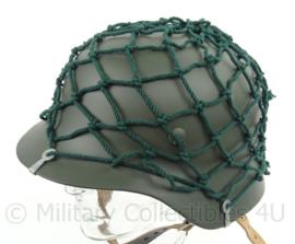 Helmnet overtrek - wo2 Duits model Groen ZONDER helm