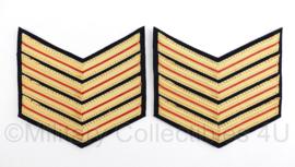 Nederlandse Brandweer rang per paar - rang onder brandmeester - 11 x 10,5 cm - origineel