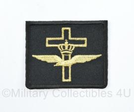 KLU Luchtmacht Predikant borstembleem - zwart - 6 x 5 cm - origineel