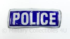 Britse Police reflectie strook met klittenband - 11 x 4 cm. - origineel
