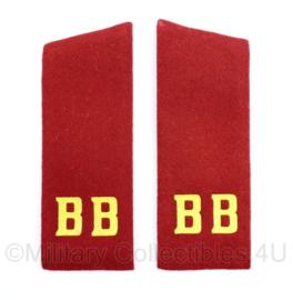 USSR Russische leger epauletten Rood met gele letters BB - 17 x 6 cm - origineel