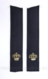 Nederlandse politie epauletten paar halffabricaat - rang Inspecteur - 25,5 x 5 cm - origineel
