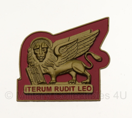 WW2 Italian RSI 3rd Naval Infantry Badge ITERUM RUDIT LEO in geschenk- of displaydoosje