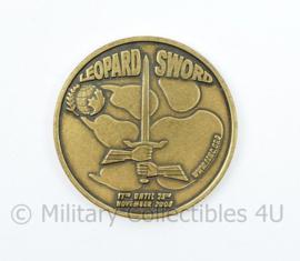 Duits Nederlandse Corps Coin Exercise Leopard Sword November 2008 - diameter 3,5 cm - origineel