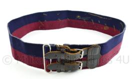 Britse Leger stable belt koppel rood/blauw - 100 x 7,5 x 0,3 cm - origineel
