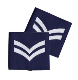 PAIR Royal Air Force Blue Rank Slides/Epaulettes  Corporal - origineel